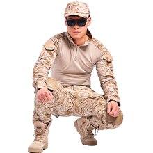 Ropa de camuflaje militar táctico paintball ejército pantalones cargo pantalones de combate multicam militar pantalones tácticos con rodilleras