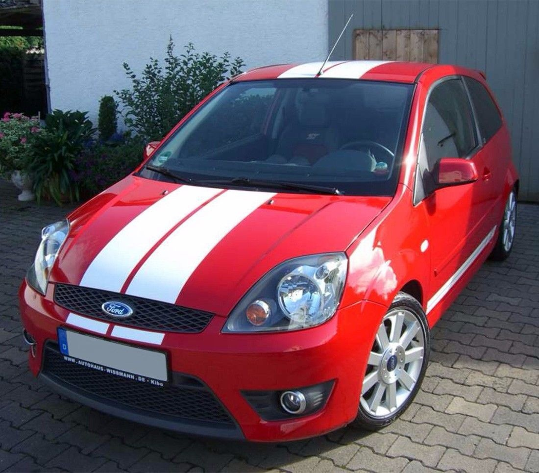 for stripe kit sticker decal vinyl for ford fiesta st rs 2002 2008 sill trunk [ 1100 x 965 Pixel ]