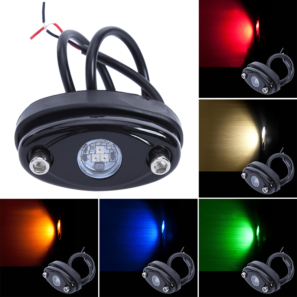 9W Car LED Decorative Lamp Automobile Chassis Light Car-styling Light-emitting Diode Deck Atmosphere Lamp for Offroad Truck Boat front grille led emblem logo light 4 colors abs decorative grill lamp for f ord r anger t7 2016 2017 car styling