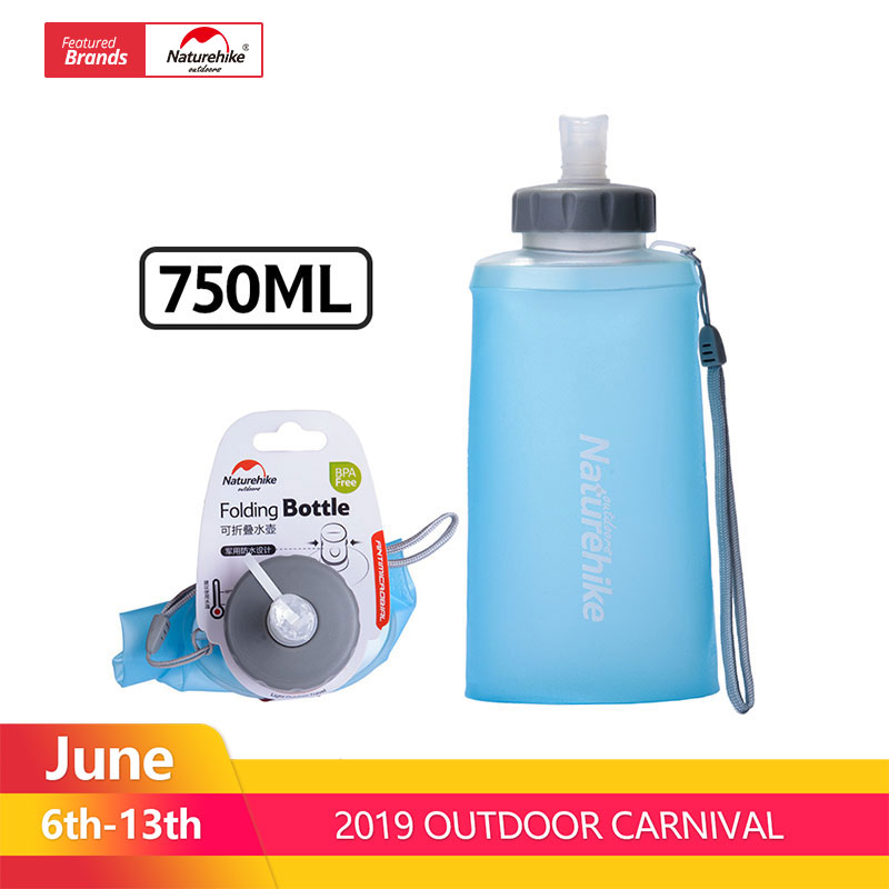 NatureHike 750ML Sport Bottle Water Bottles Outdoor Cup Portable Silicone Folding Drinkware With Straw Bicycle Water BottleNatureHike 750ML Sport Bottle Water Bottles Outdoor Cup Portable Silicone Folding Drinkware With Straw Bicycle Water Bottle