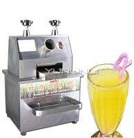 Espremedor comercial do suco de cana de aço inoxidável máquina de espremer 750 w vertical-tipo triturador de cana