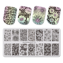 BeautyBigBang Nail Art Stamping Flower Tree Leaves 14 Different Pattern Stencil For Mold Template Nail Stamping Plate BBB XL-023