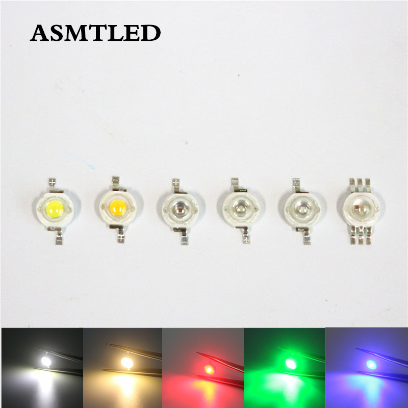<font><b>10</b></font> 100 <font><b>1000</b></font> Pcs LED Light Beads 1W 3W LED Lamp SMD Diodes 3.2-3.6V 100LM/W 350/700mA LED Bulb Chip CW / WW / R / G/ B / R / RGB image