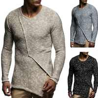 Men's Sweater Knitted Shawl Turtleneck Sweater Pullover Winter Hip Hop Streetwear Long Sleeve High Quality Man's Sweaters