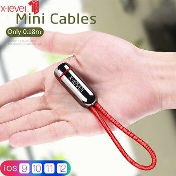 X poziom USB kabel dla iPhone XS Max X 8 7 6 6 S Plus szybki kabel danych do ładowania dla ładowarka do iPhone'a kabel do Apple kabel ze świecącą końcówką