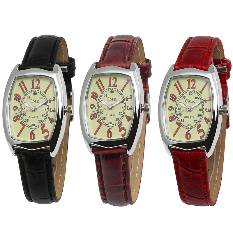 Brand CMK High Quality Quartz Watch Men Leather Strap Women Watches Fashion Dial Dress Wristwatch Relogio Masculino Clock Gifts цена