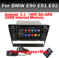 7 Дюймов Автомобиля Dvd-плеер Для BMW/3 Серии E90 Android 5.1 E91 E92 E93 С Canbus GPS Навигация Поддержка DAB Wifi Bluetooth радио