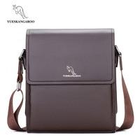 YUESKANGAROO Fashion Mens Leather Bag Brand Casual Business Mens Bag High Quality New Mens Travel Crossbody Bag Promotion HA012