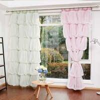 Занавески в Корейском стиле для девочек, кружевные прозрачные тюлевые занавески на окна гостиной, на заказ