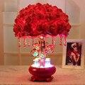 Новый розы свадьба комната украшения настольная лампа украшения дома светодиодные лампы свадебные украшения