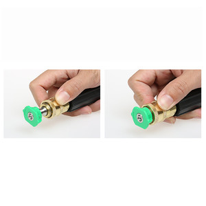 Image 3 - Garden Sprinkler Pressure Washer Accessories Washer Spray Nozzle Tips Quick Connecting Coupler Brass soap nozzle tip 2019