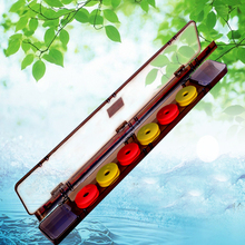 Multifunctional Float Box 53*9*5cm ABS Plastic Fishing Tackle Box Mainline Spool Floats Hook Box Double Layer Multi Purpose