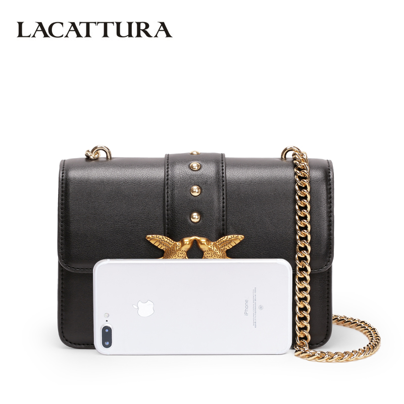 LACATTURA Luxury Flap Handbag Women Designer Leather Chain Shoulder Bag  Bird Buckle Fashion Messenger Bags Small Clutch-in Shoulder Bags from  Luggage   Bags ... c481cb514df60