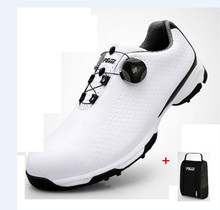 PGM Summer Men Golf Shoes Men Waterproof Breathable Rotating buckle Sneakers Non-slip Patent Golf Shoes With shoes bags 39-45