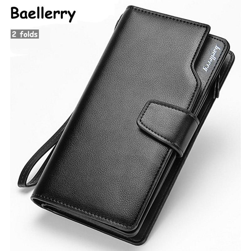 2017 Hot Selling! Casual Men's Wallet bag 2 fold Design Long Men's Clutch bag Wallet Business Card Holder Coin Purse Wallets New casual weaving design card holder handbag hasp wallet for women