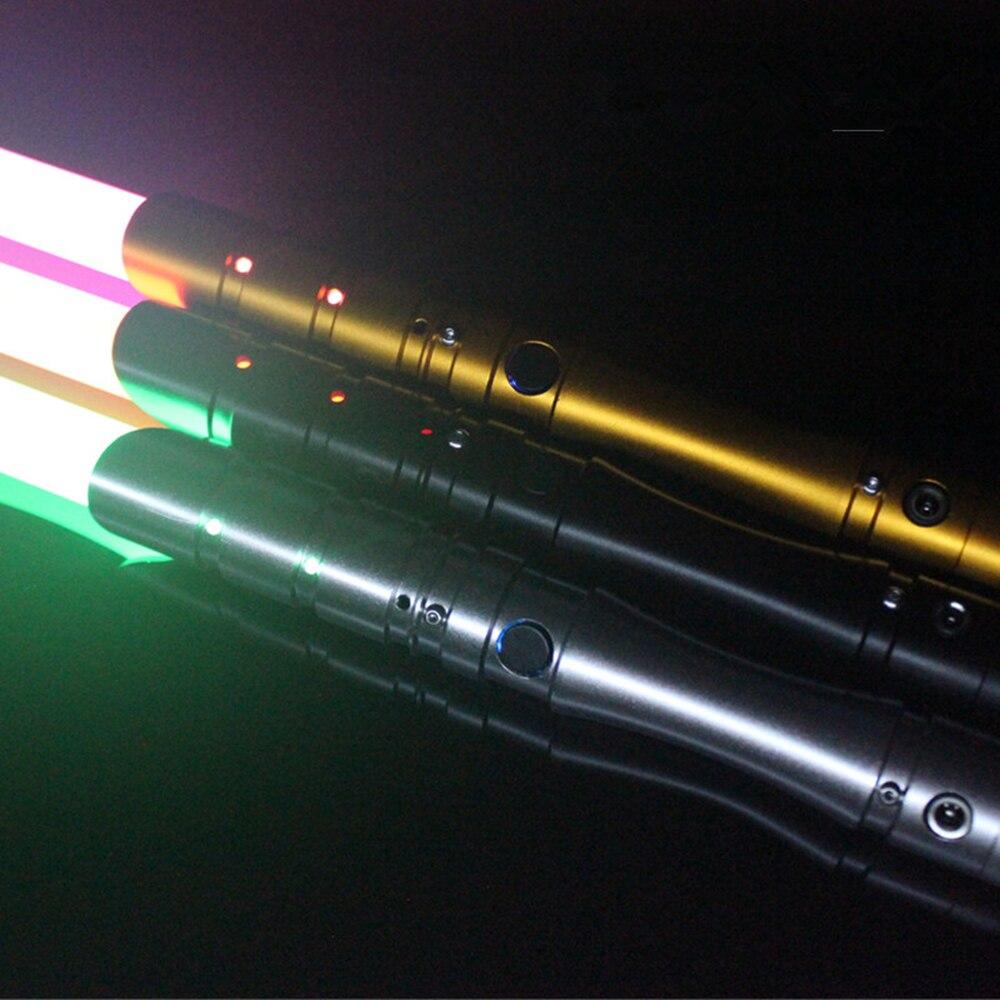 Nueva 15 tipos 1 piezas Cosplay Lightsaber con sonido luz Led rojo verde azul sable aleación Skywalker espada 100 cm sonido Luke juguete de regalo