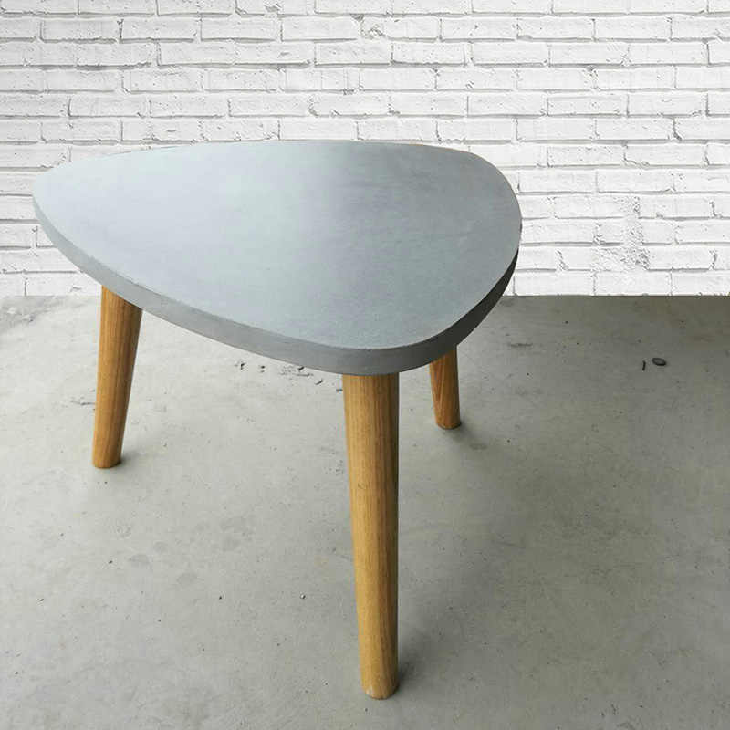 Round Triangle Cement Table Top Mould Living Room Coffee Table Concrete Furniture Desktop Silicone Mold