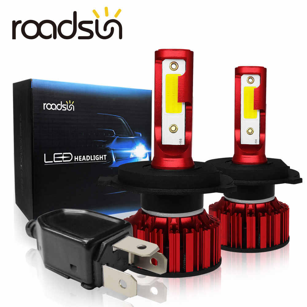 Roadsun Spotlight LED H4 8000Lm Car Light COB Chip Auto Lamp H1 H8 Headlights 9005 HB3 6000K 9006 HB4 H11 H7 Led Bulb 12V 80W