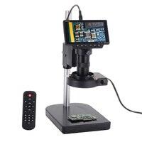 16MP Microscopio Digitale con Schermo LCD HDMI USB WIFI Macchina Fotografica del Microscopio 100X C mount Lens Macchina Fotografica Lente di Ingrandimento per PCB di riparazione FAI DA TE-in Microscopi da Attrezzi su