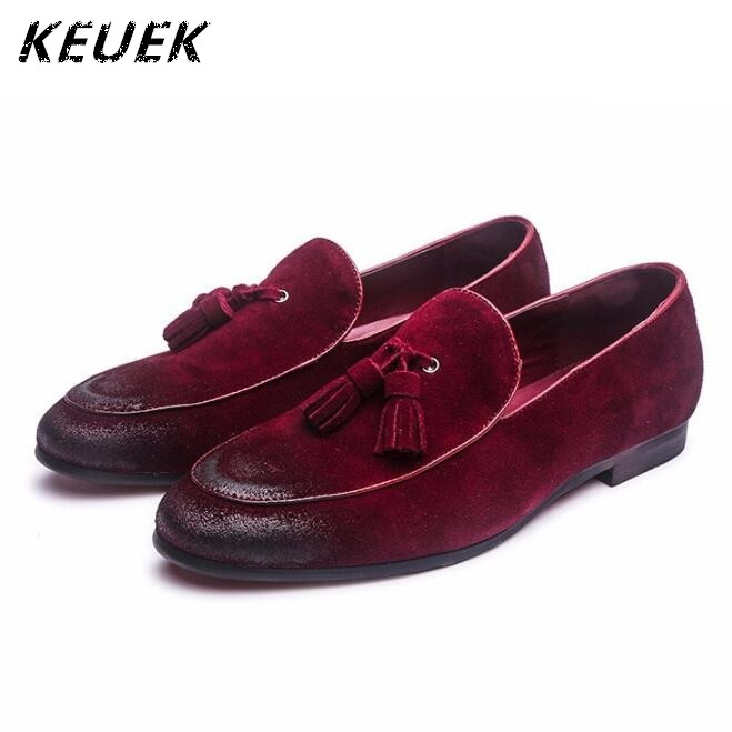 New Arrival Fashion Men Slip-On Flats Genuine leather Breathable Casual Driving shoes Vintage tassel Loafers Male Boat shoes 022 fashion nature leather men casual shoes light breathable flats shoes slip on walking driving loafers zapatos hombre