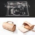 1 Набор прозрачный акриловый кожаный шаблон для рукоделия Трафарет Шаблон DIY для сумки Сумка для изготовления кожевенного ремесла набор инс...