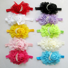 Baby Hair Bands Hairband Ribbon Pearl Baby Girls Flowers Headband Kids Hair Accessories Headwear