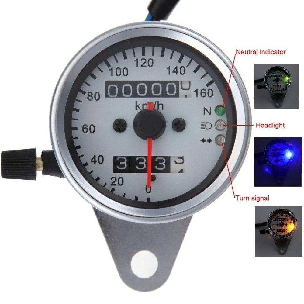 motorcycle steel dual odometer speedometer gauge speed meter led rh aliexpress com Harley Hand Gear 2014 Harley Service Manual