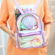 Hologram Women Laser Transparent Backpack Teenager Student School Bag Girls Large Capacity Book Fashion Mermaid