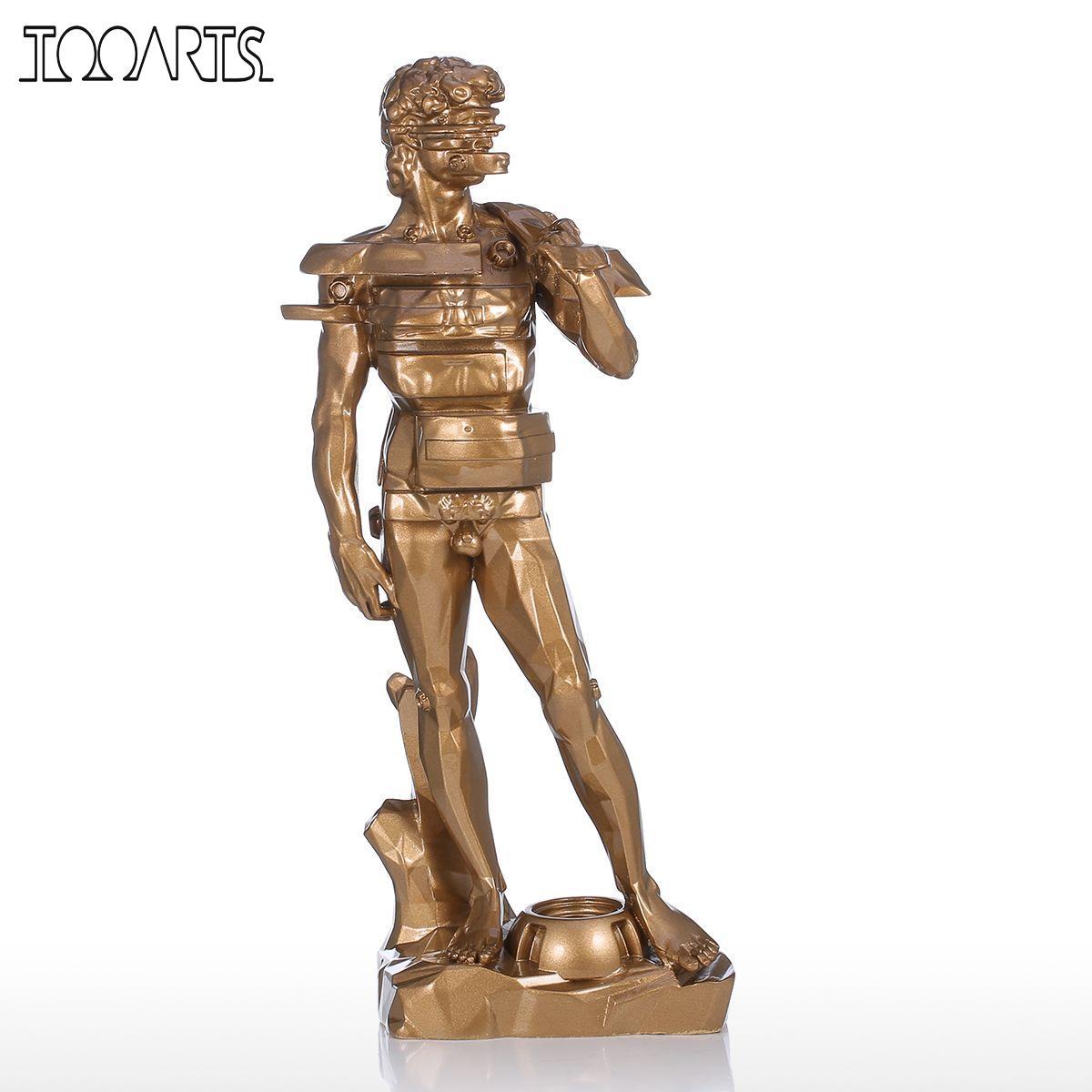 Tooarts Tomfeel David fiókos műgyanta szobor lakberendezéssel - Lakberendezés