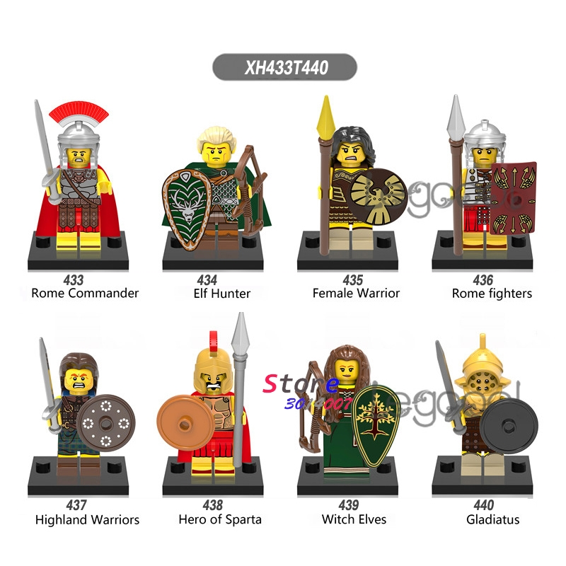 Toys & Hobbies Buy Cheap 1pcs Model Building Blocks Rome Fighters Elf Hunter Female Warrior Hero Of Sparta Witch Elves Gladiatus Toys For Children Gift An Indispensable Sovereign Remedy For Home