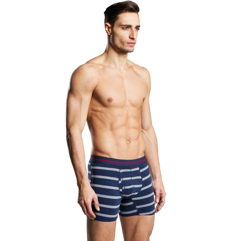 Hot Selling S Cotton Antibacterial Comfortable Long Leg Mens Boxers Shorts Male Underpants Six Colors Size M To Xxxl Men's Underwear