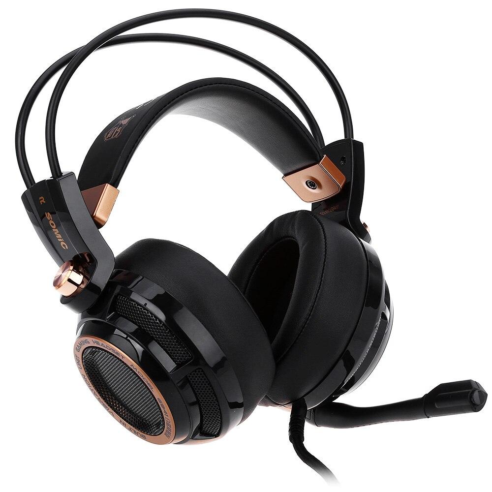 Somic G941 mise à niveau Active suppression de bruit casque 7.1 virtuel Surround son USB casque de jeu avec micro fonction vibrante