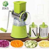 DUOLVQI Manual Vegetable Cutter Slicer Kitchen Accessories Multifunctional Round Mandoline Slicer Potato Cheese Kitchen Gadgets
