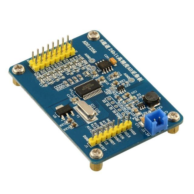 Envío libre ADS1256 módulo AD de 24 bits ADC con tarjeta de adquisición de datos de alta precisión ADC
