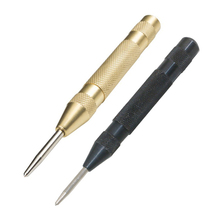 5 Inch Automatic Center Pin Punch Spring Loaded Marking Starting Holes Tool Wood Press Dent Marker Woodwork Tool Drill Bit automatic center pin punch strike spring loaded strating marking hole tool breaker 8 jdh99