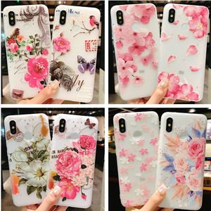 Image 2 - 3D relief flower silicone phone case New fashion phone cover  for iphone XS MAX XR 5 6 7 8 plus  Rose floral OPPO soft TPU Cover