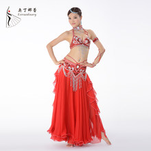 0c3367a4a 2018 New Performance Belly Dancing Luxury Egyptian Costumes Oriental 3pcs  Bra Belt and Skirt Belly Dance