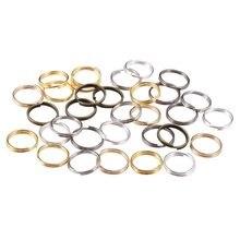 983b2cb7d666 St kunkka 200 unids lote 4 6 8 10 12mm abierto saltar anillos dobles lazos  Color oro y plata Split anillos conectores para la fa.