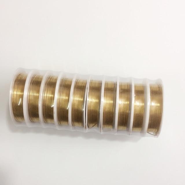 0,2/0,25/0,3/0,4/0,6/0,8/1,0 Mm/mit Gold Farbe Kupfer Draht Seil DIY ...