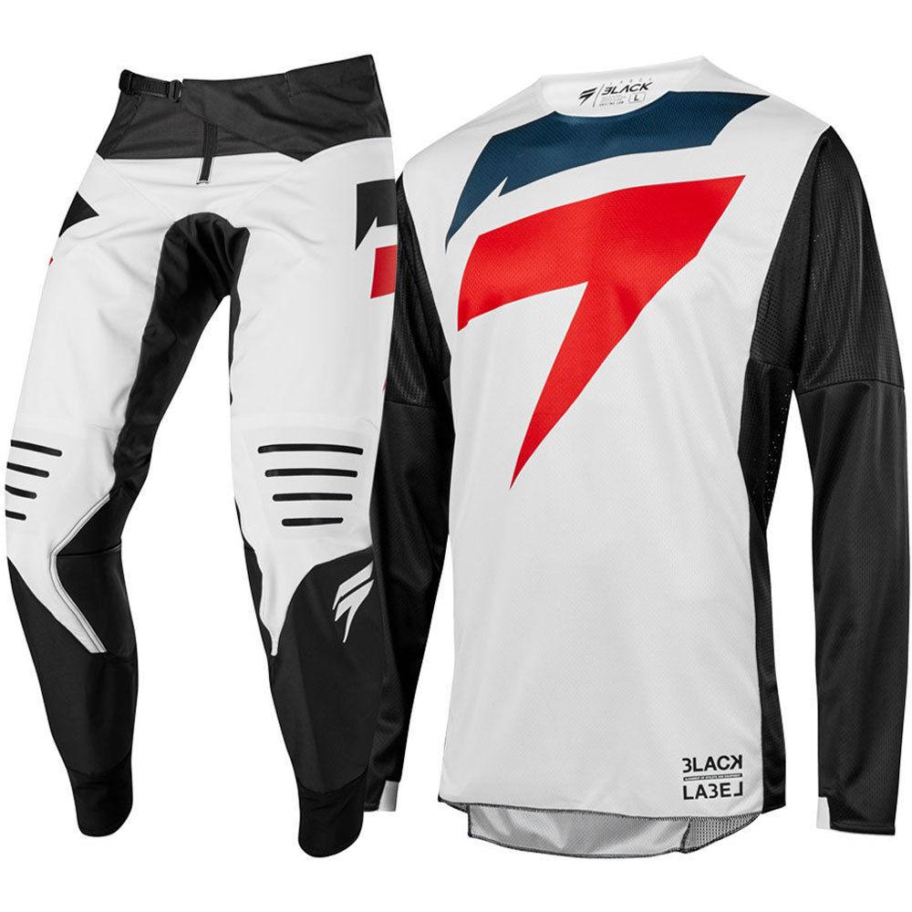Nouveau 2019 3 manque Mainline noir blanc moto Jersey et pantalon Motocross Gear Set