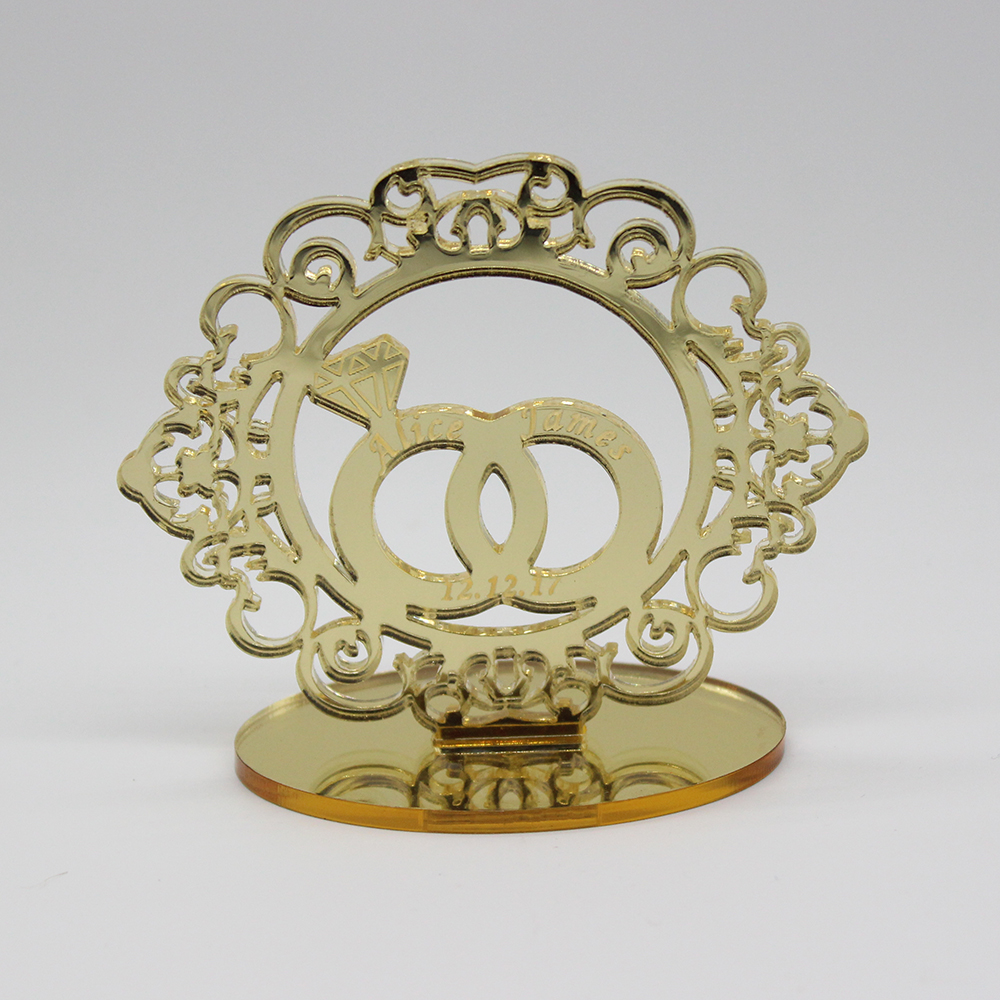 20 штук персонализированные выгравированы серебро и золото зеркало Свадебная вечеринка место название таблицы карты подарки на день рожден...