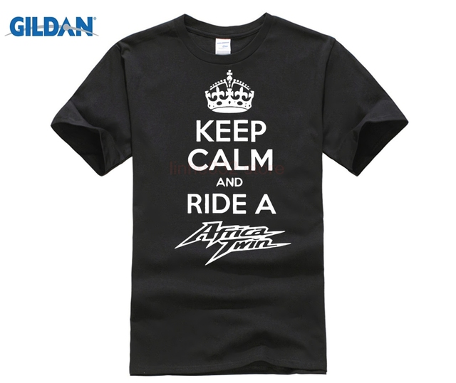 498f43e5924e37 New 2018 Fashion Men s High Quality Keep Calm And Ride A Africa Twin T-Shirt  Motorcycle Fans Biker Gift O-Neck Cool Tee shirt
