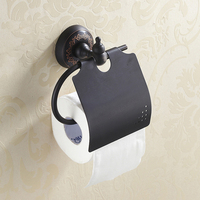 Free Shipping Wall Mounted Bathroom Oil Rubbed Bronze Toilet Paper Holder Black Paper Tissue Rack