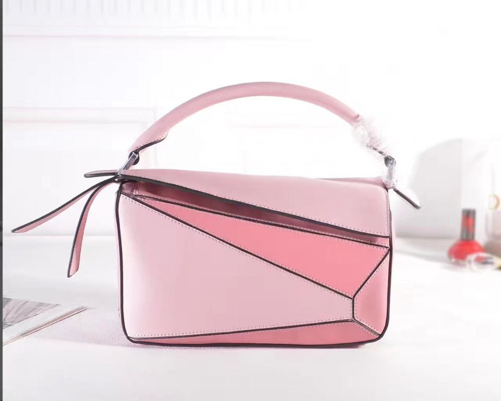 2017 new genuine leather unique design women bag famous brand panelled flap female crossbody messenger pillow bag bolsa feminina