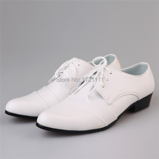 2015 Hot selling white leather shoes men s business casual shoes groom  wedding shoes EUR size 39-44 d34ea220c5b3