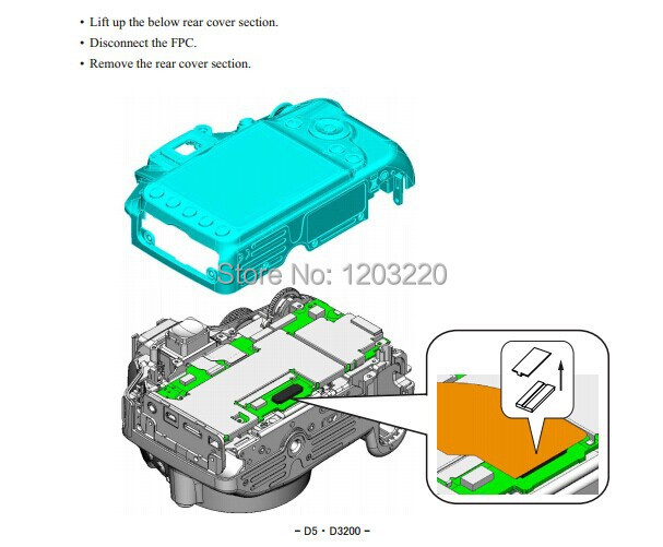 hot selling d3200 repairing manual for nikon digital camera on rh aliexpress com nikon d3300 service manual nikon d3200 repair manual download