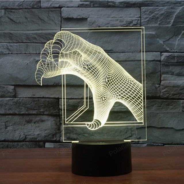 Home Decor multi gekleurde 3D Dinosaurus Klauw Sfeerverlichting Led ...