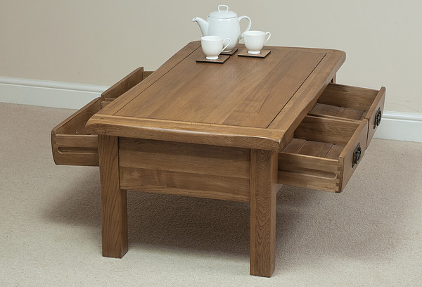 American Country Of Pure Solid Wood Coffee Table White Oak
