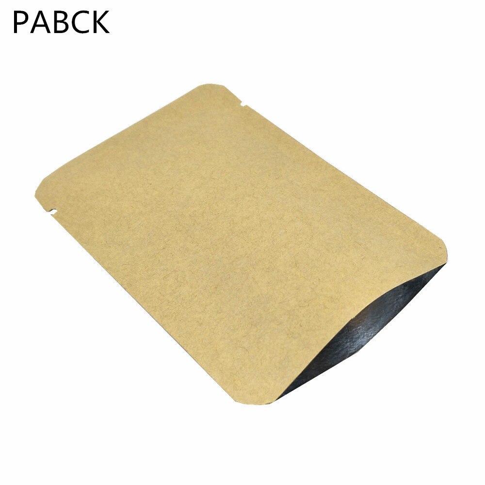 Emballage alimentaire brun sacs papier Kraft extérieur intérieur Mylar conception Top ouvert thermoscellage sac d'emballage sous vide Snack sac de stockage de bonbons