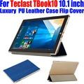 50 шт./лот Case для Teclast TBook10 10.1 дюймов tablet pc Оригинальный Роскошный Кожаный PU Case Кристалл Назад Откидная крышка TL05